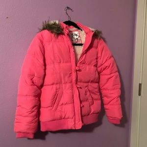 Girls pink winter jacket